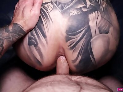 THICK Arse Tattooed Onlyfans Milf With Chunky TIT Does Close Up ANAL Fucking HARD and Takes Cum Up Say no to Ass ANAL Creampie POV - Melody Radford