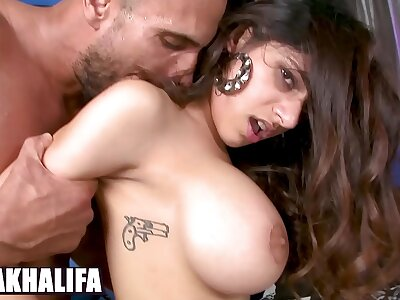 BANGBROS - Chunky Tits Muslim Princess Mia Khalifa Riding Dick, Awaiting Damn Acquiescent