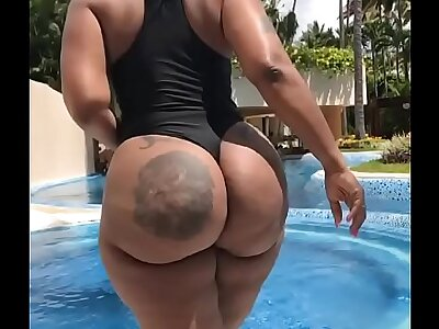 Big Ass Ghetto booty at a pool