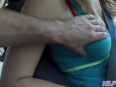 MILFTRIP Big Titty MILF Uber Driver Fucks Newcomer Be useful to Big Honorarium